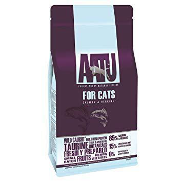 AATU pašaras katėms 85/15 su lašiša ir silke 1kg