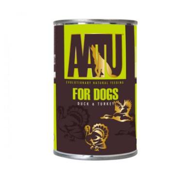 AATU FOR DOGS konservai su antiena/kalakutiena 400g