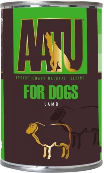 AATU FOR DOGS konservai su ėriena 400g