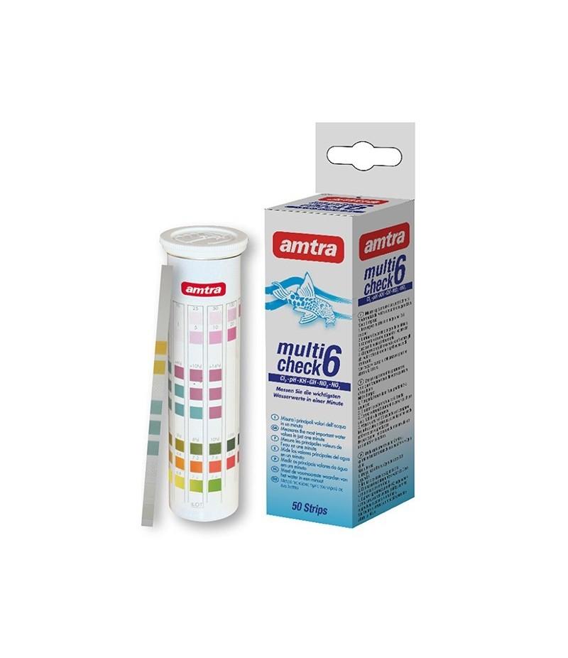 AMTRA MULTICHECK 6IN1 vandens testas 50vnt