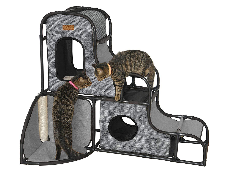 CROCI PARKOUR XL pilkas parkuro namas katėms