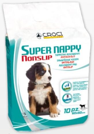 CROCI SUPER NAPPY NON SLIP paklotai 60x60cm, 10vnt