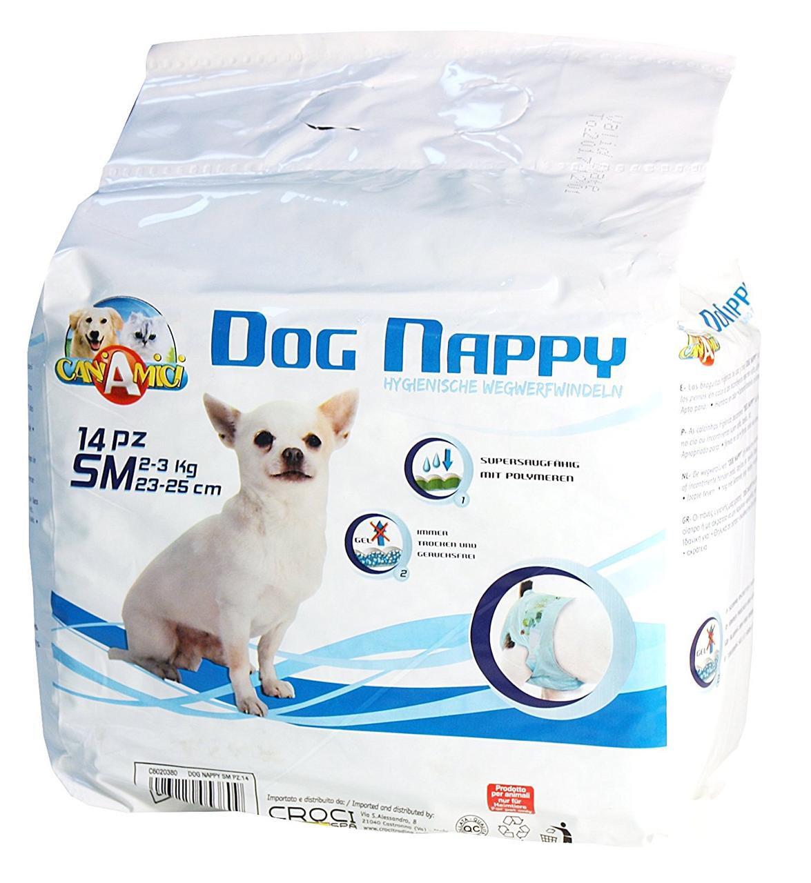 CROCI Dog Nappy sauskelnės šunim SM 2-3kg