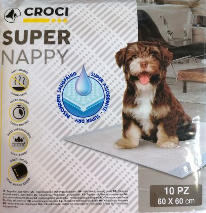 CROCI SUPER NAPPY Higieniniai paklotai 60x60cm