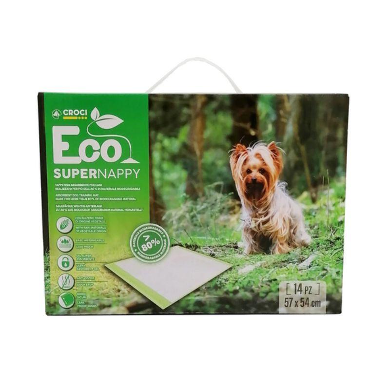 CROCI Super Nappy Eco ekologiški paklotai 57x54cm 14vnt