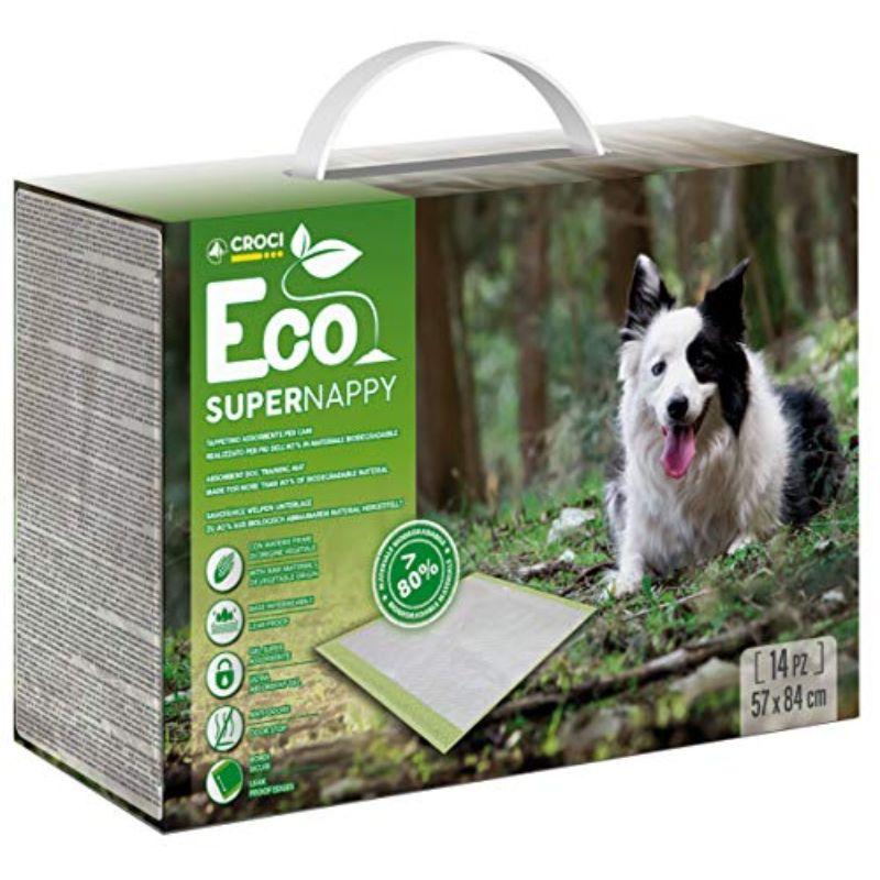 CROCI Super Nappy Eco ekologiški paklotai  84x57cm 14vnt