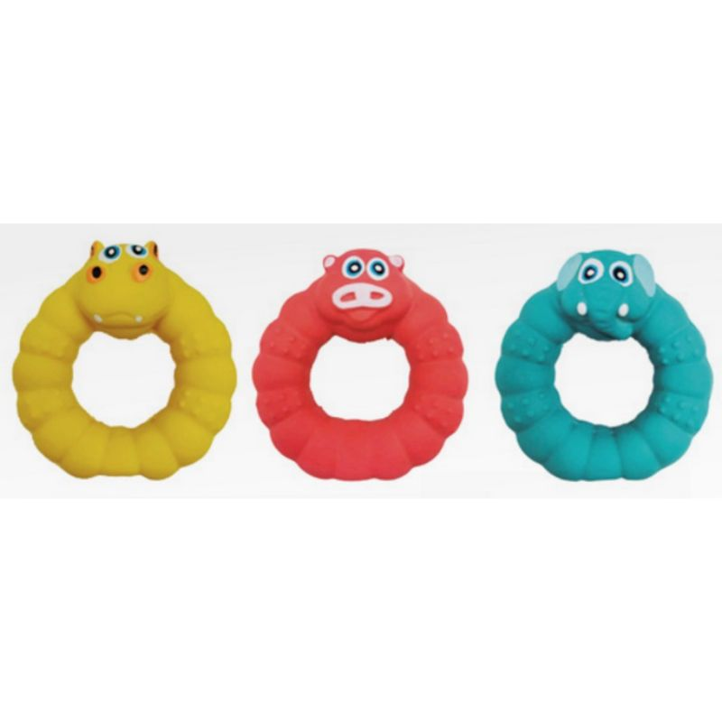 CROCI Latex Animal Ring žaislas žiedas 9cm