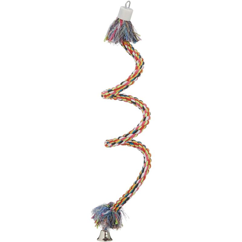CROCI Bird Spiral-rope paukščių žaislas virvė M