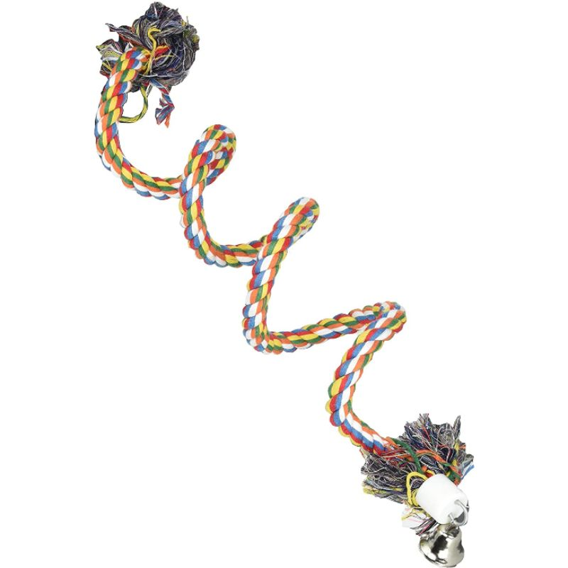CROCI Bird Spiral-rope paukščių žaislas virvė L