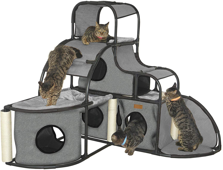 CROCI PARKOUR GIANT pilkas parkuro namas katėms