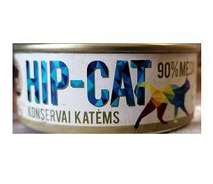 HIP-CAT 98% jautienos konservai katėms 100g