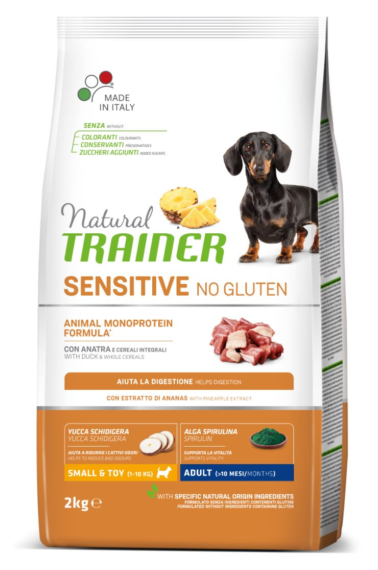 NT ADULT DOG SENSITIVE NO GLUTEN MINI DUCK (antiena) 2kg