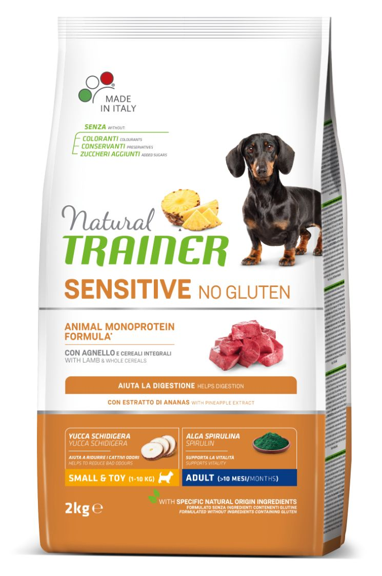 NT ADULT DOG SENSITIVE NO GLUTEN MINI LAMB (ėriena) 2kg