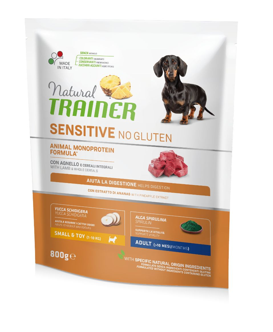 NT ADULT DOG SENSITIVE NO GLUTEN MINI LAMB (ėriena) 800g