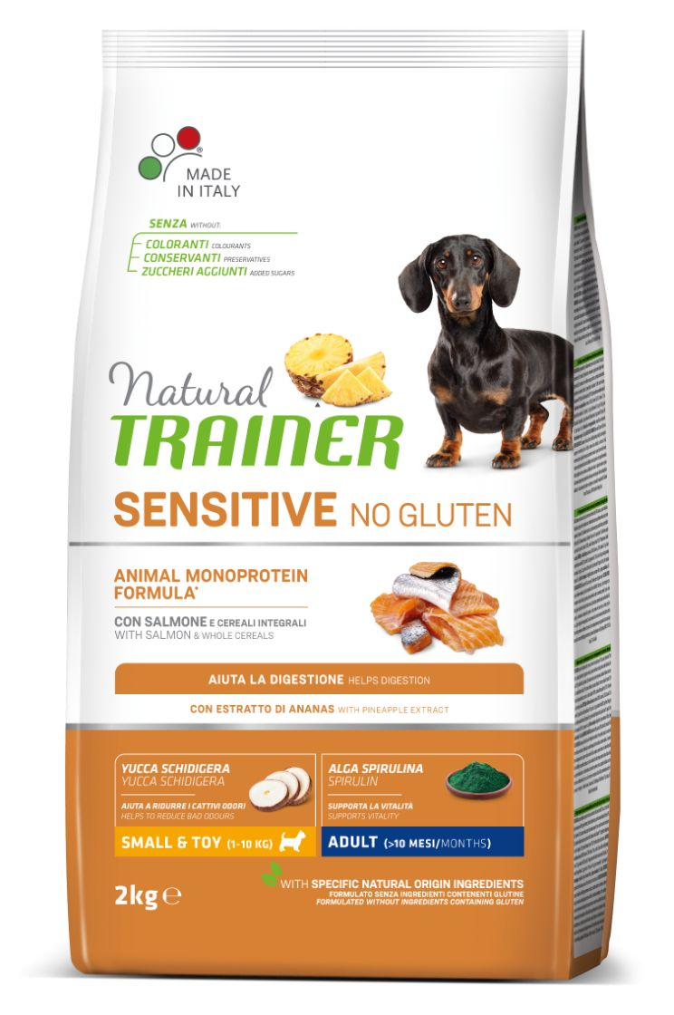 NT ADULT DOG SENSITIVE NO GLUTEN MINI SALMON (lašiša) 2kg