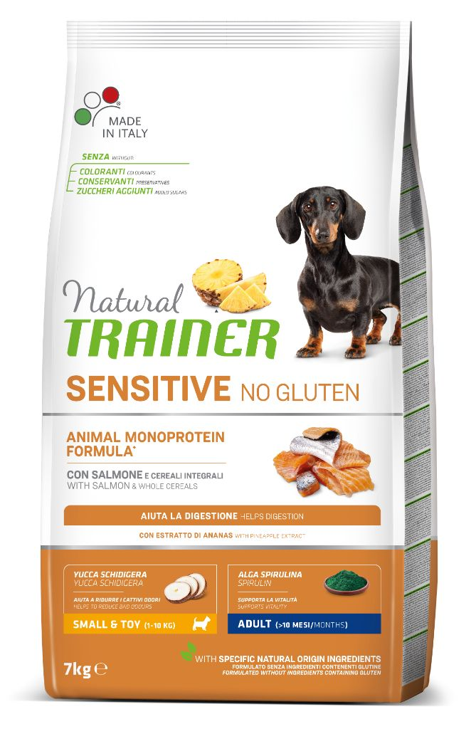 NT ADULT DOG SENSITIVE NO GLUTEN MINI SALMON (lašiša) 7kg