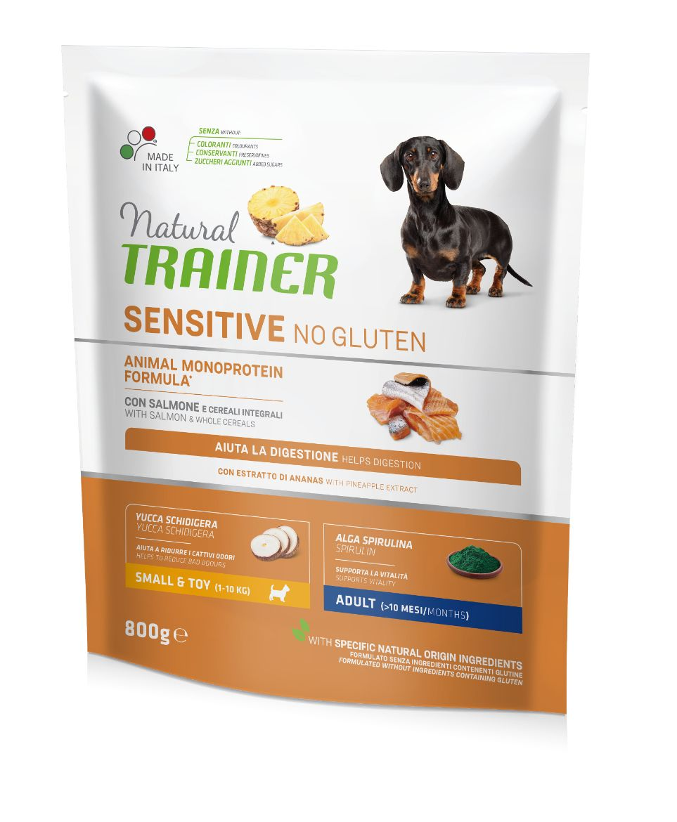 NT ADULT DOG SENSITIVE NO GLUTEN MINI SALMON (lašiša) 800g