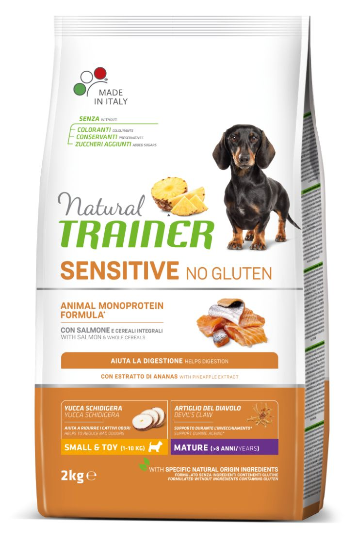 NT DOG SENSITIVE NO GLUTEN MATURITY MINI (lašiša) 2kg