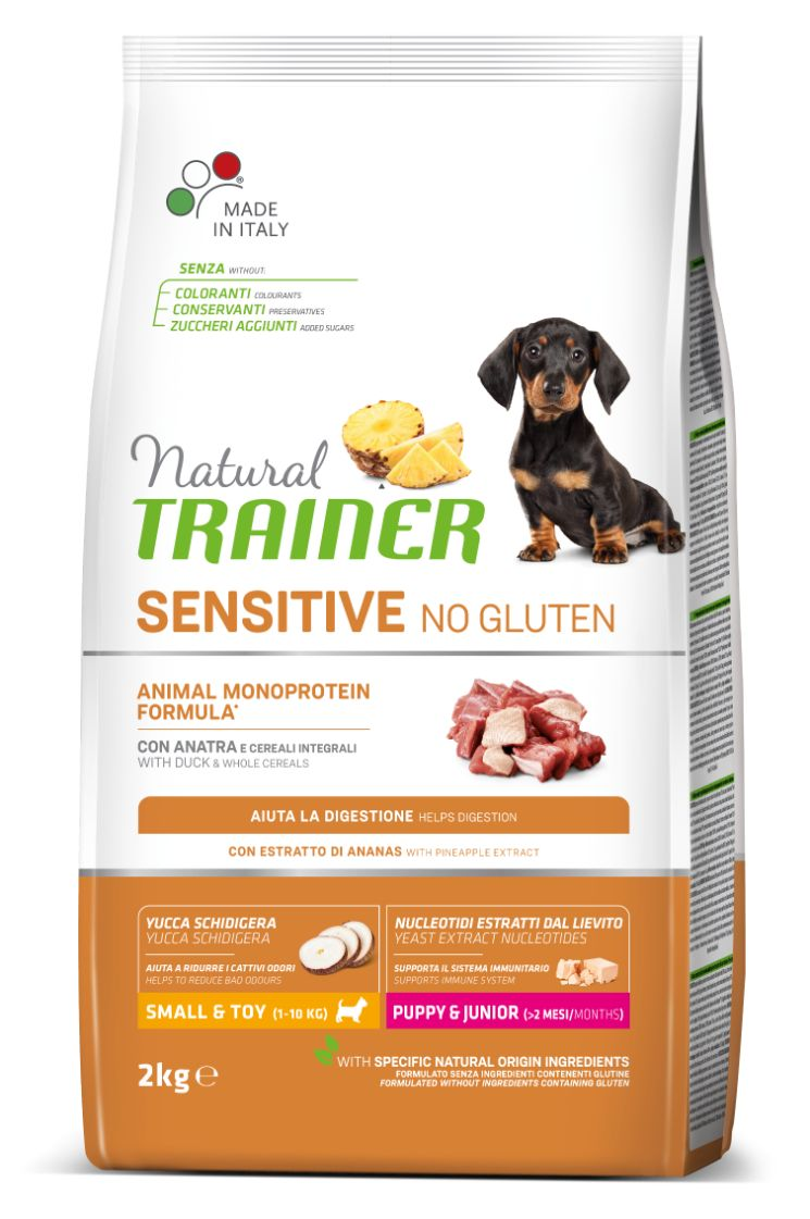 NATURAL TRAINERT DOG SENSITIVE NO GLUTEN PUPPY&JUNIOR MINI DUCK (antiena) 2kg
