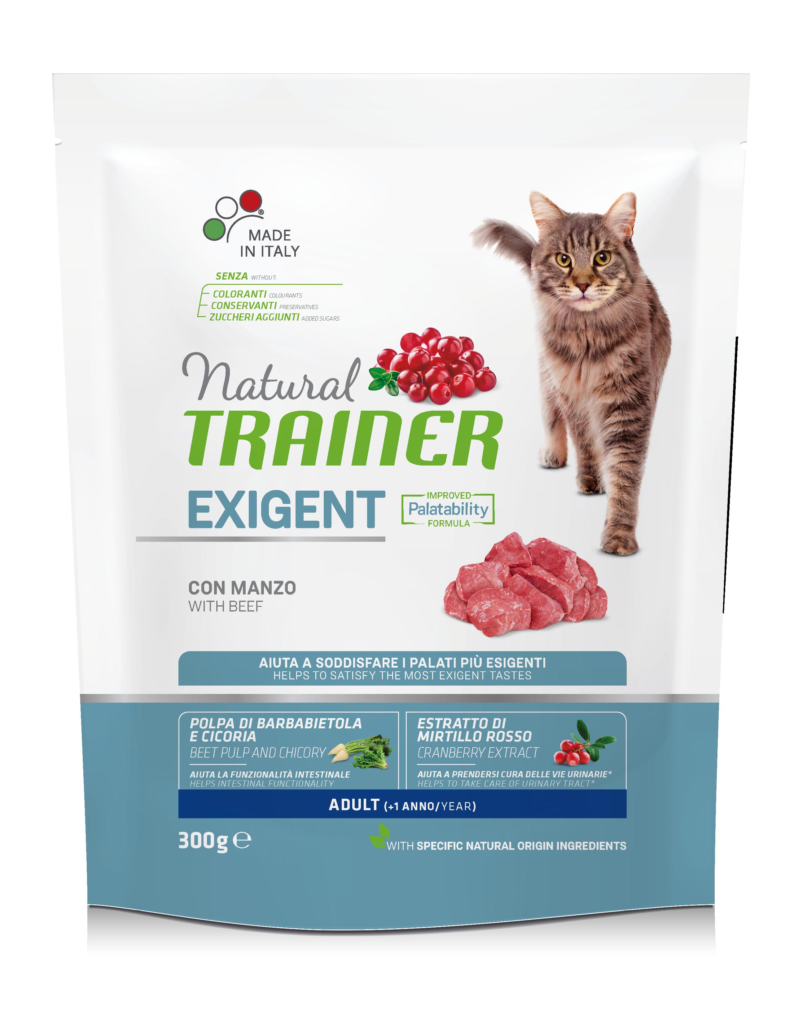 NATURAL TRAINER CAT EXIGENT BEEF su jautiena 300g