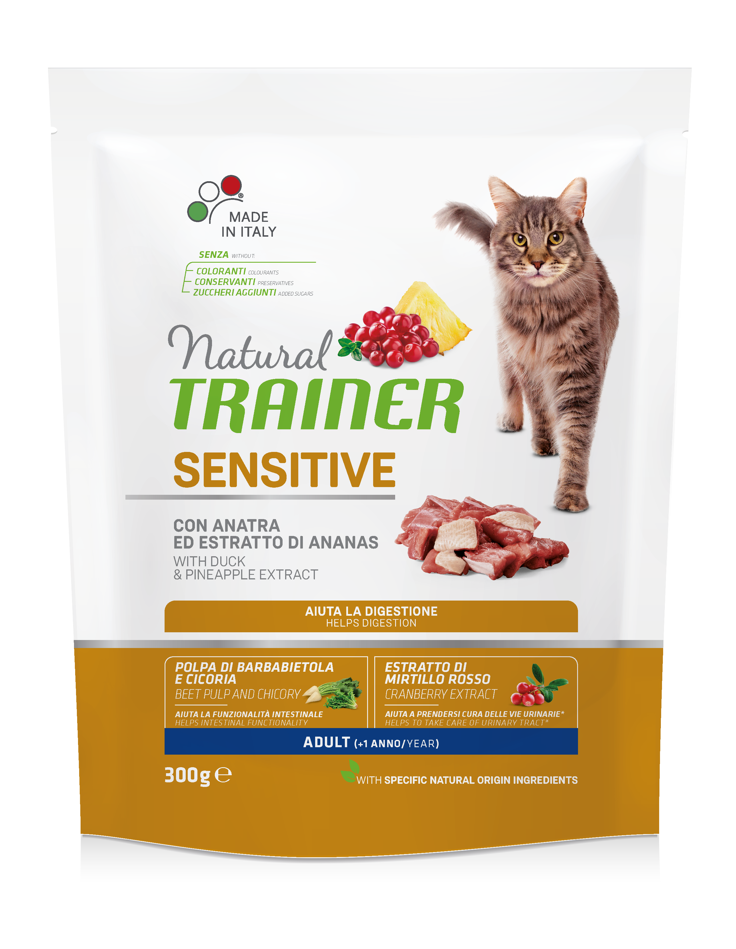 NATURAL TRAINER CAT SENSITIVE DUCK su antiena 300g