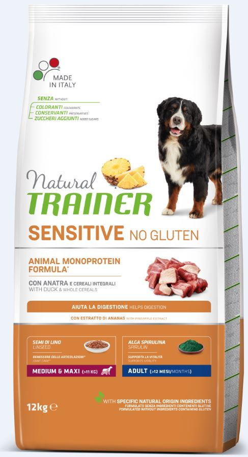 NT ADULT DOG SENSITIVE NO GLUTEN M/M DUCK (antiena) 12kg