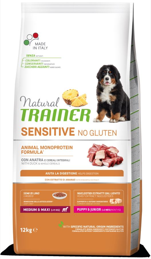 NT DOG SENSITIVE NO GLUTEN PUPPY&JUNIOR M/M DUCK (antiena) 12kg