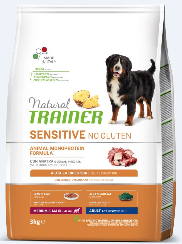 NT ADULT DOG SENSITIVE NO GLUTEN M/M DUCK (antiena) 3kg