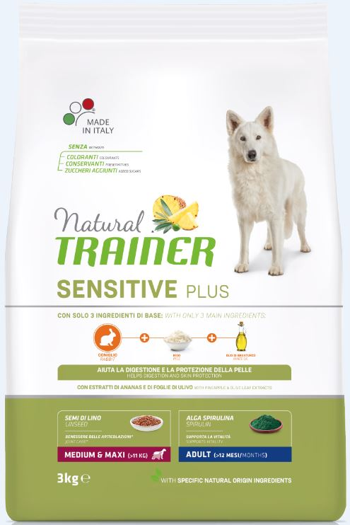 NT DOG SENSITIVE PLUS ADULT M/M RABBIT (triušiena) 3kg