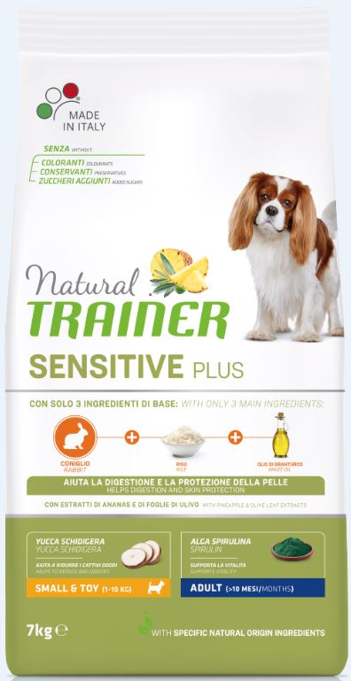 NT DOG SENSITIVE PLUS ADULT MINI RABBIT (triušiena) 7kg