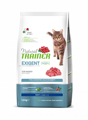 NATURAL TRAINER CAT EXIGENT BEEF su jautiena 1.5kg