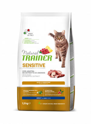 NATURAL TRAINER CAT SENSITIVE DUCK su antiena 1.5kg