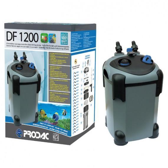 PRODAC Išorinis filtras DF-1200, 350-500L akvariumui. Su UV