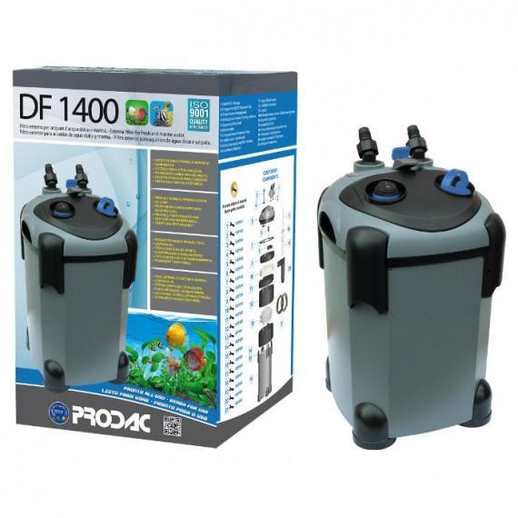 PRODAC Išorinis filtras DF-1400, 600-800L akvariumui. Su UV