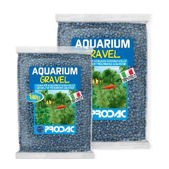 PRODAC Gruntas akvariumui mėlynas 2-3mm 1kg