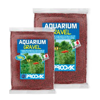 PRODAC Gruntas akvariumui raudonas 2-3mm 1kg