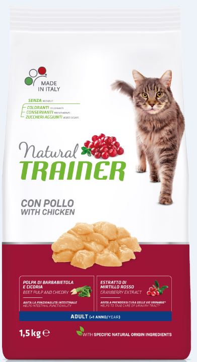 NATURAL TRAINER CAT ADULT CHICKEN su vištiena 1.5kg