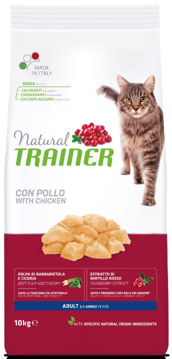 TRAINER NATURAL Cat adult fresh chicken su vištiena 10kg