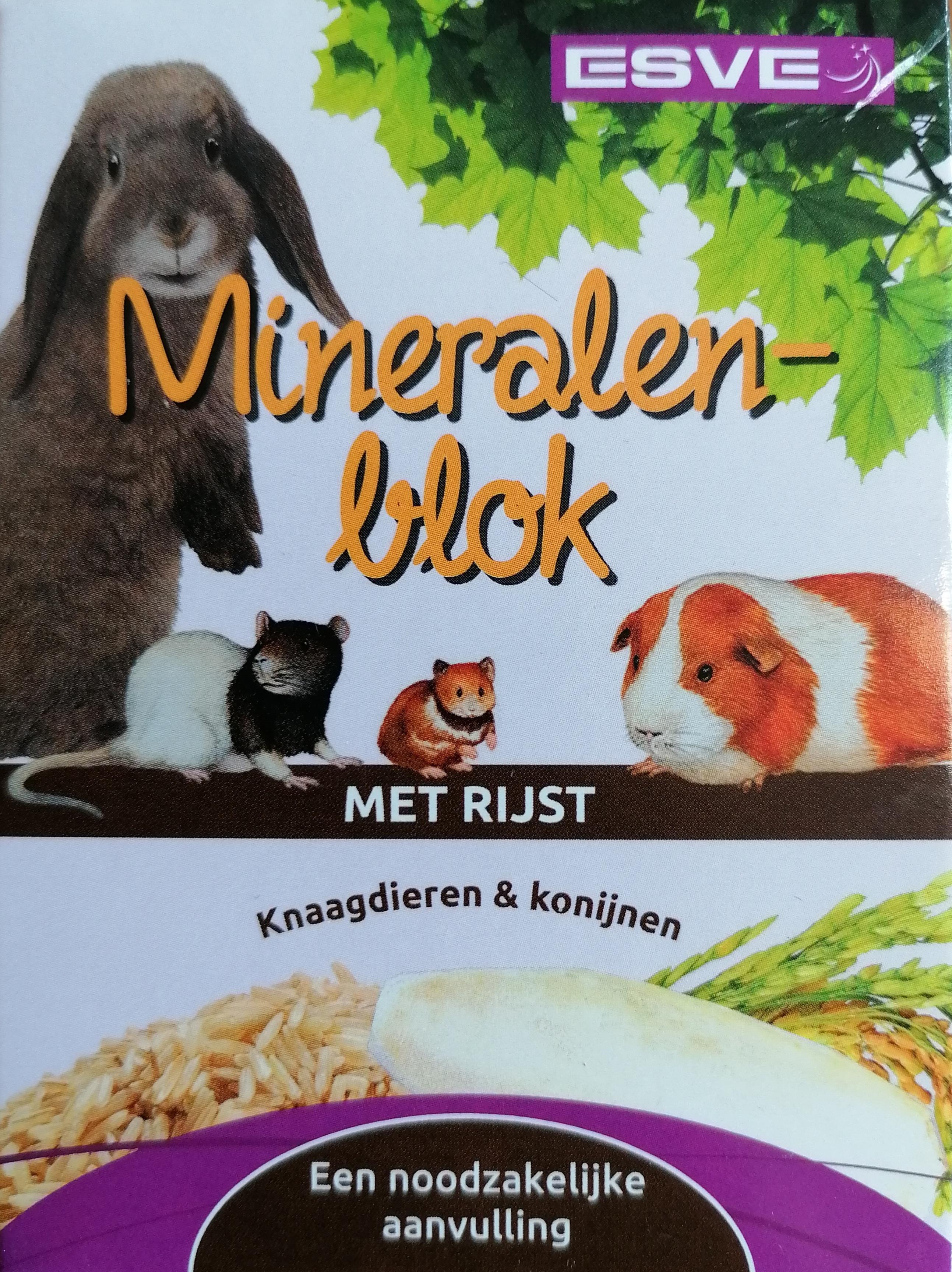 VDG ESVE mineralas su ryžiais graužikams 155g