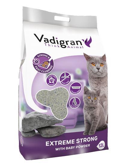 VADIGRAN kačių kraikas Clump Extreme Strong 12kg