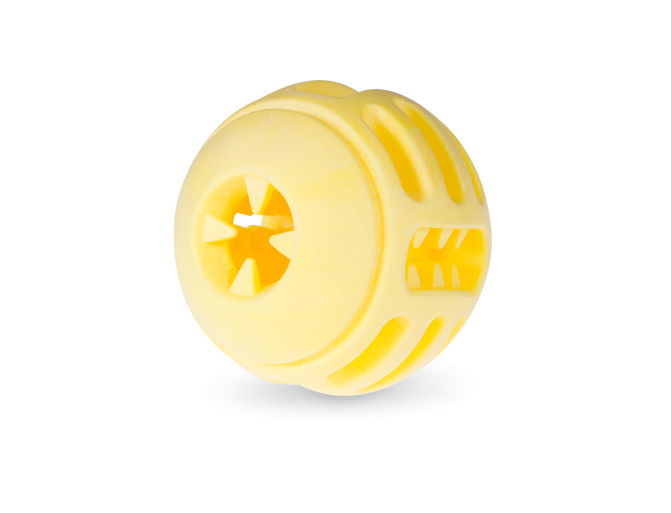 VDG TPR Vanilla Yellow Ball kamuoliukas šuniui 8cm