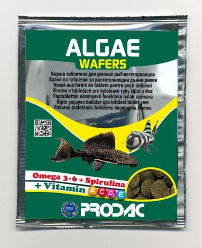 PRODAC ALGAE WAFERS augalinė plokstėlė žuvims 15g