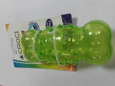Žaislas lateksinis žalias kauliukas 13.5x5.6cm