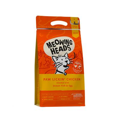 MEOWING HEADS Paw Lickin Chicken (vištiena/žuvis) 1.5kg