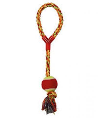 Virvelinis žaislas su teniso kamuoliu 43cm Ø6cm