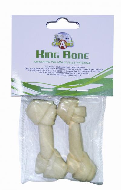 King Bone Kaulas baltas su mazgu 7.5cm 2vnt (mažesni 6.5-7cm)