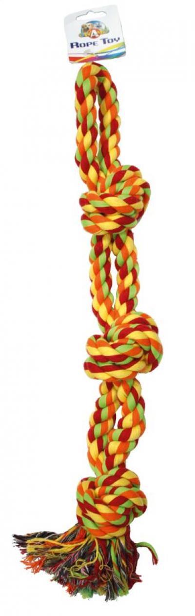 Virvelinis žaislas dvigubas su mazgais 55.8cm