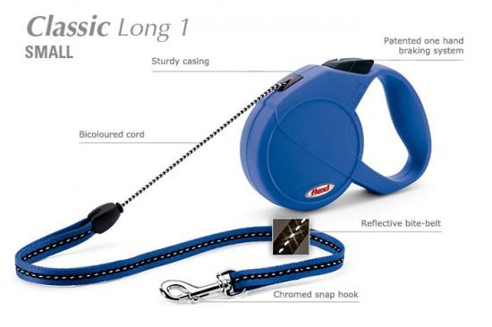 FLEXI CLASSIC (S) 5m mėlynas iki 12kg