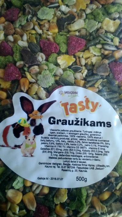 VADIGRAN TASTY pašaras graužikams 0.5kg