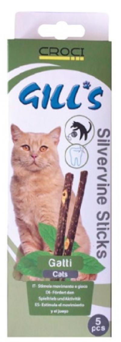 Gill's Silvervine lazdelės katėms, 5vnt